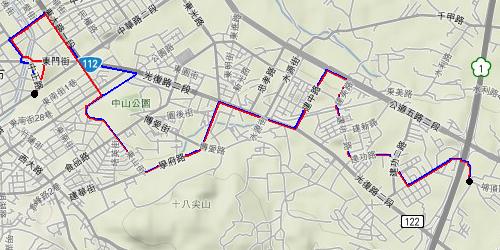 市區公車2甲路線圖2009/7/14