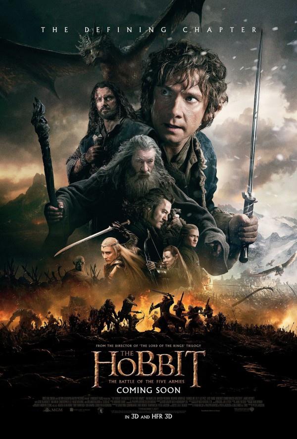《哈比人:五軍之戰》正式海報