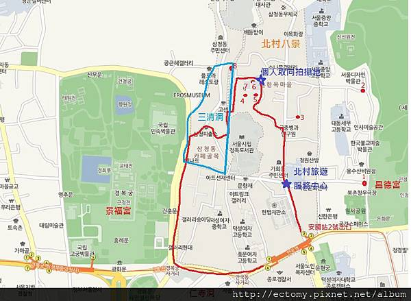 安國站北村八景圖