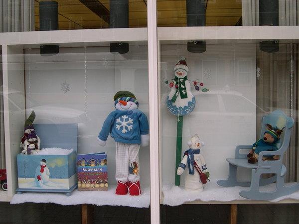 可愛櫥窗 小雪人