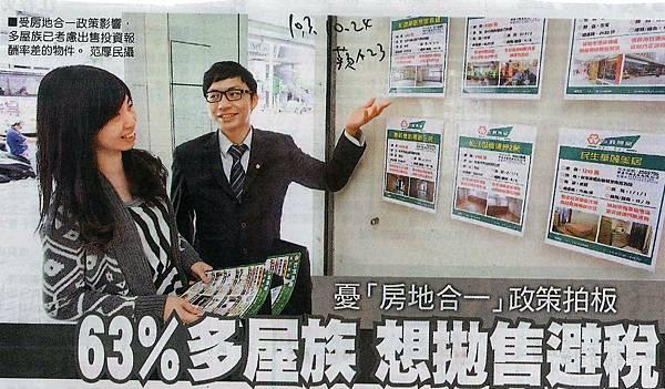 未來房地合一稅的政策,導致63%多屋族想賣房! 文◎李廷鈞地政士
