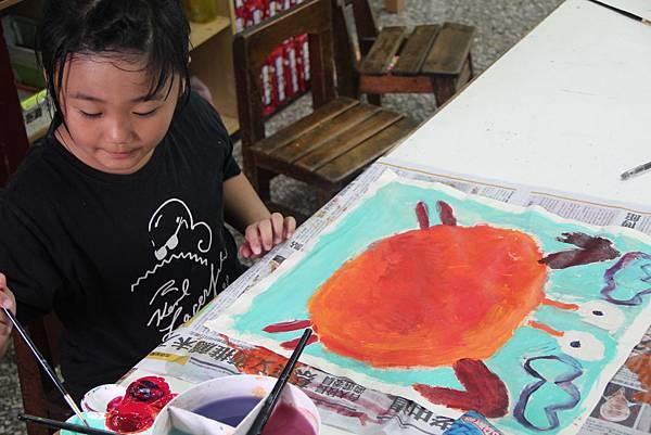 IMG_7713-塗鴉的螃蟹。