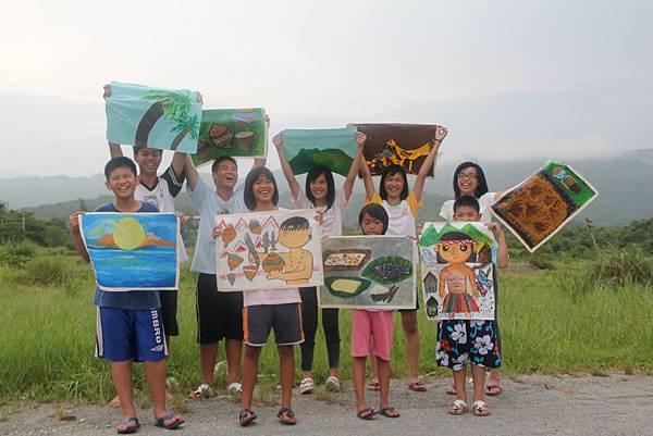 花蓮水璉教會的孩子,畫下他們的觀察與生活經驗。