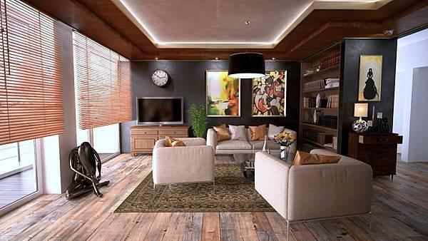 (圖說、居家環境的照明、家具對比色、動線等,在在影響失智長輩的居家安全。)