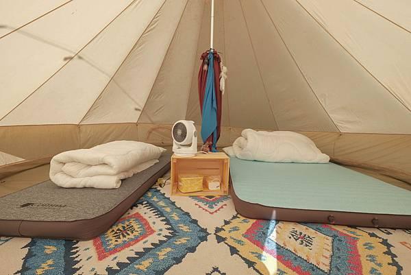 7圖說:帳篷內部