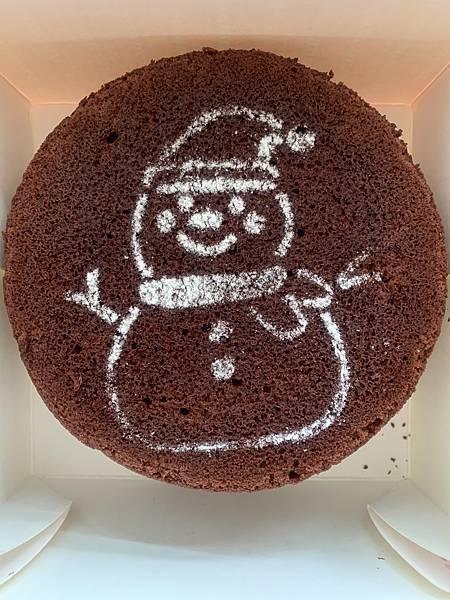 (圖二)愛分享聖誕蛋糕(雪人巧克力蛋糕)