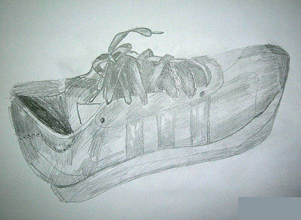 素描 鞋子