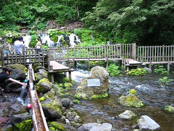 377 水源上有橋可以行走, 旁邊有木造的水道供取水.JPG