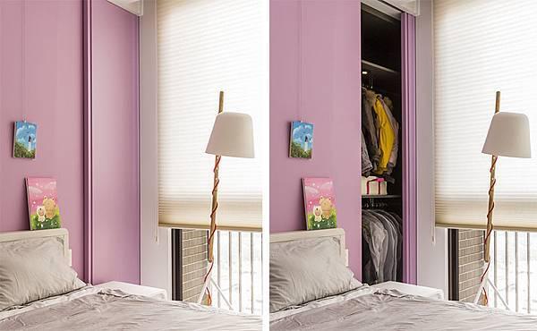 edHOUSE 機能櫥櫃 輕裝修 系統櫃 系統板材 系統家具 隱藏式延牆系統設計 權釋設計 臥房 衣櫃 收納櫃 活動層板 輕裝修設計 系統櫃設計 室內設計
