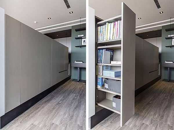 edHOUSE 機能櫥櫃 輕裝修 系統櫃 系統板材 系統家具 書櫃 隱藏式延牆系統設計 權釋設計 收納櫃 活動層板 輕裝修設計 系統櫃設計 室內設計