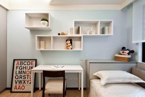 edHOUSE 機能櫥櫃 輕裝修 輕裝修設計 系統櫃 系統板材 裝潢設計 系統家具 客製化 收納 臥房 設計重點 小孩房 孩童房 書架