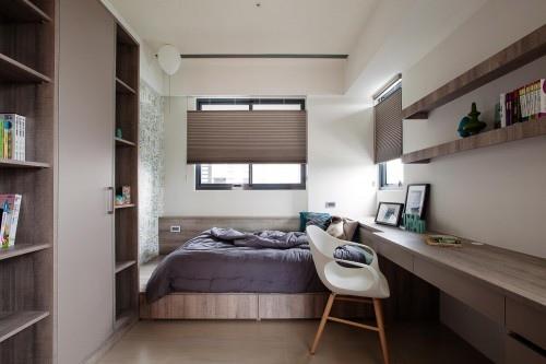 edHOUSE 機能櫥櫃 輕裝修 輕裝修設計 系統櫃 系統板材 裝潢設計 系統家具 客製化 收納 臥房 設計重點 書櫃 書桌