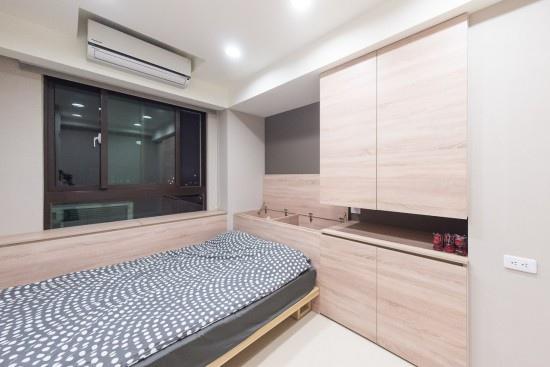 edHOUSE 機能櫥櫃 輕裝修 輕裝修設計 系統櫃 系統板材 裝潢設計 系統家具 客製化 收納 居家收納 開門設計 系統櫃設計 北歐 現代 臥房  設計重點 室內設計