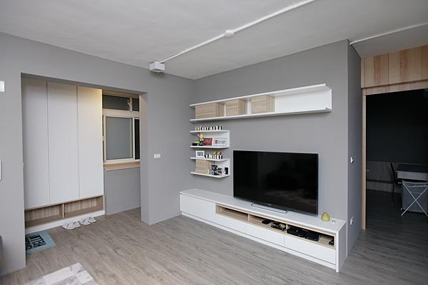 edHOUSE 機能櫥櫃 輕裝修 系統櫃 系統板材 裝潢設計 系統家具 客製化 日和設計 收納 簡約 客廳  共享宅  輕裝修設計