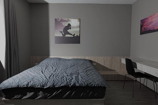 edHOUSE 機能櫥櫃 輕裝修 系統櫃 系統板材 裝潢設計 系統家具 客製化 日和設計 收納 簡約 臥房 共享宅  輕裝修設計