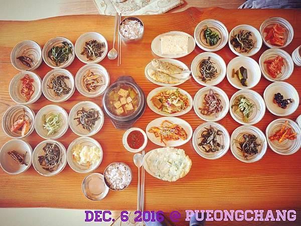 [[江原//美食]] 平昌 - 五臺山山菜1號家(오대산산채일번가),超豪邁山菜韓定食