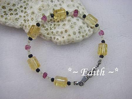 黃水晶手鍊~尖晶石