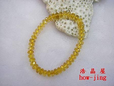 黃水晶近全美算盤鑽切手珠