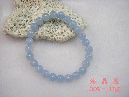 海水藍寶8mm手珠