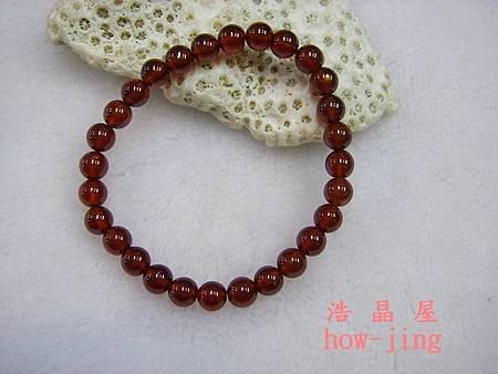 錳鋁榴石6.5mm手珠