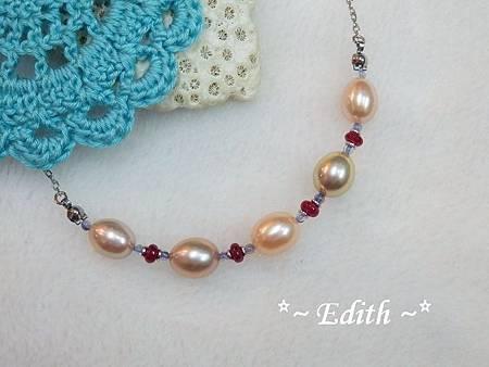 珍珠項鍊~紅寶石