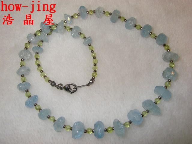 海水藍寶項鍊