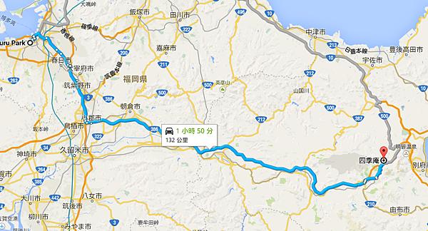 23_Maizuru Park 至 四季庵 Google 地圖