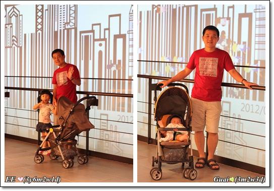 父子女與牆面兩圖