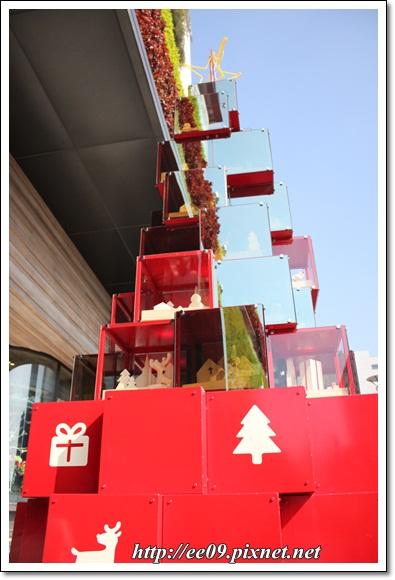 紅耶誕樹展示櫃