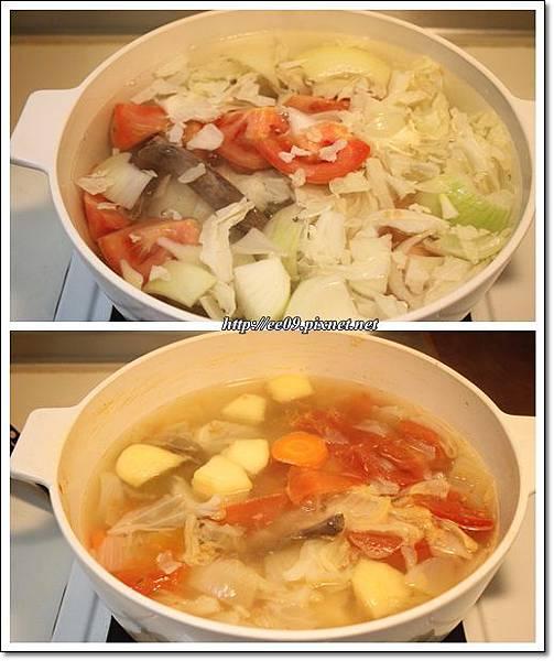 賓仔骨蔬菜高湯