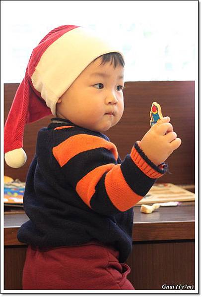 乖乖戴耶誕帽側面.JPG