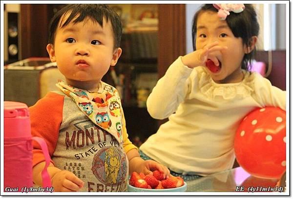 吃草莓囉.JPG