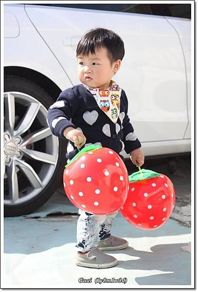 買了兩顆草莓球.JPG