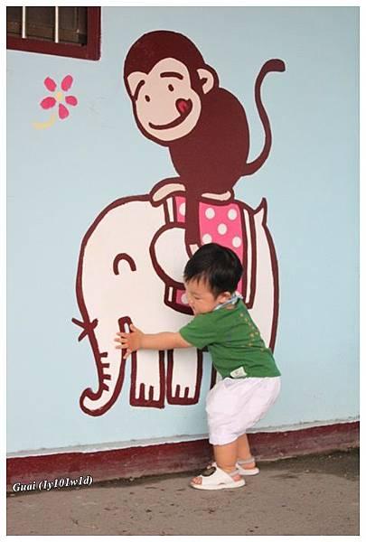 乖與大象猴子.JPG