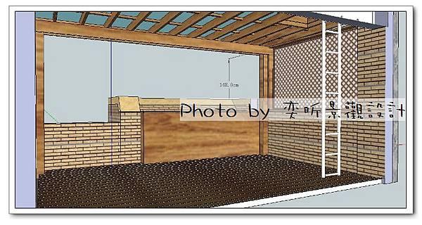 客戶用前院左右改加隔網-3