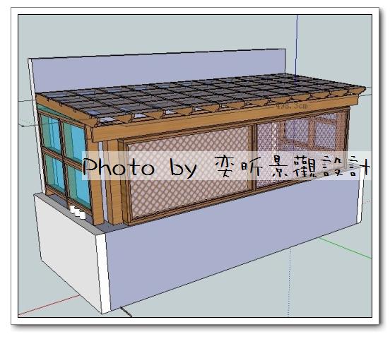 客戶用後院前方加隔網-1