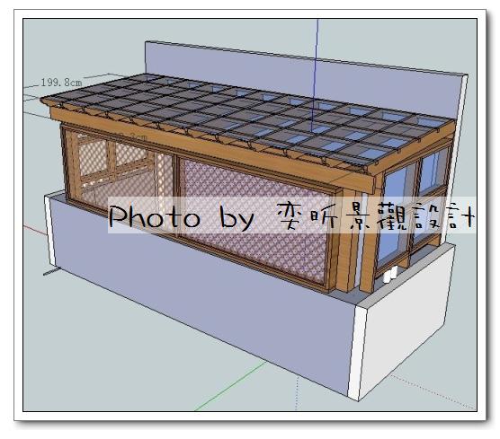 客戶用後院前方加隔網-2