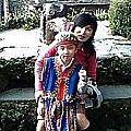 2005年在九族文化村,媽媽第一次減肥成功哩!
