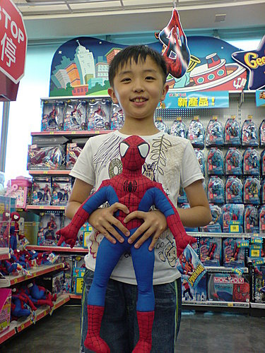抱著蜘蛛人的感覺~真好