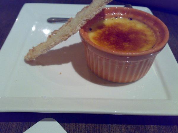 甜點-紅番花焦糖布丁