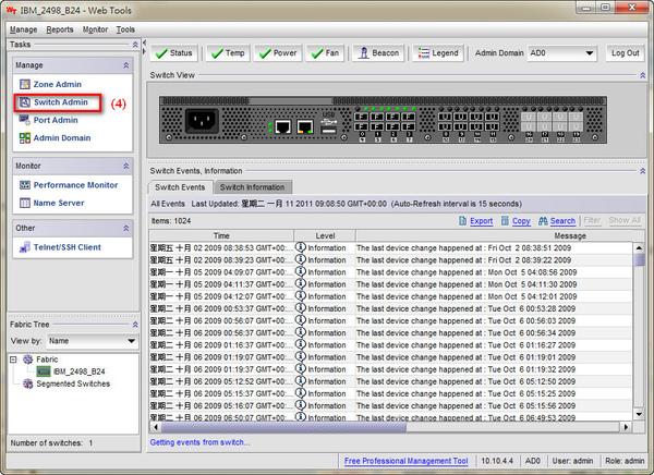 IBM SAN Switch Admin