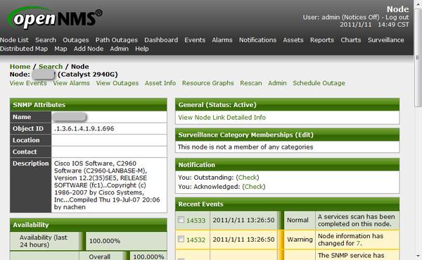 Cisco SNMP on OpenNMS
