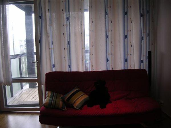 mu:超級舒適的沙發床   紅色的很漂亮