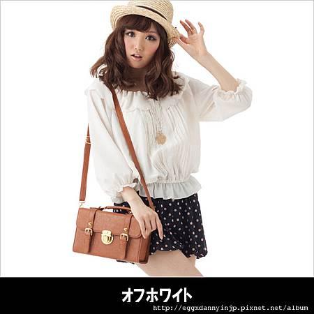 2012春裝-INGNI 荷葉襯衫+蓬蓬短褲組合(日本大阪在地代買、代購、代標-Egg X Danny in jp)