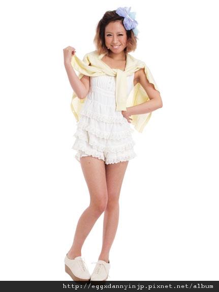 2012春裝~VIVI 3月號藤井LENA著用~dazzlin連身蛋糕褲[日本大阪在地代買、代購、代標-Egg X Danny in jp]
