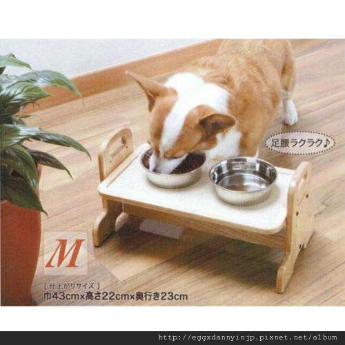寵物用品~寵物可調節式木頭餐桌[日本大阪在地代買、代購、代標-Egg X Danny in jp]