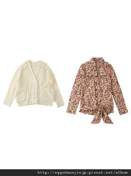 叁月連線 no.23[Backs 2012春裝 針織外套+花襯衫組]-日本大阪在地代買、代購、代標-Egg X Danny in jp