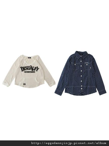 叁月連線 no.32[Backs 2012春裝 印刷T+點點襯衫組]=日本大阪在地代買、代購、代標-Egg X Danny in jp