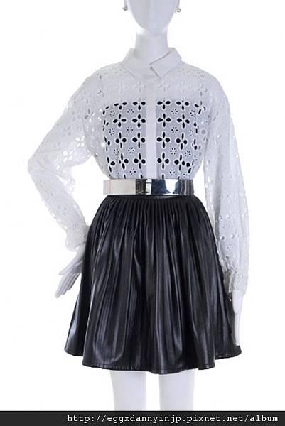叁月連線 no.39[2012春裝~VIVI四月號刊載~EMODA黑色仿皮裙]=日本大阪在地代買、代購、代標-Egg X Danny in jp