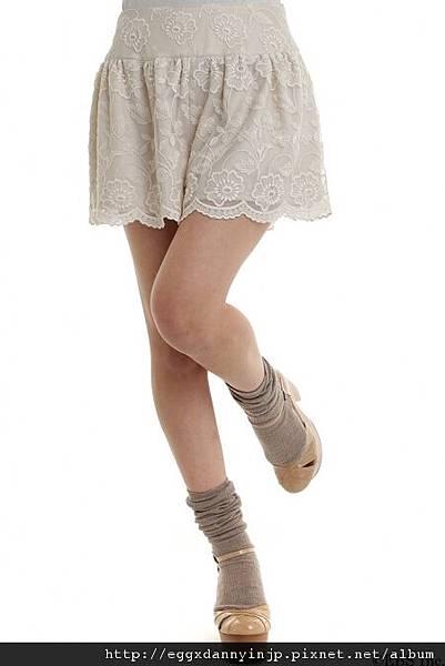 2012春裝~VIVI四月號刊載~MIIA蕾絲小短褲(預約款)=日本大阪在地代買、代購、代標-Egg X Danny in jp